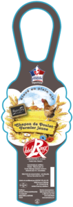 Chapon de poulet fermier jaune-Auvray Volailles